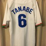 西武ライオンズ黄金期のユニフォームへ田邊監督の現役時代の番号と名前の刺繍