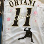 大谷翔平選手ユニフォームへの刺繍