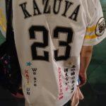 福岡ソフトバンクホークスユニホームへ刺繍
